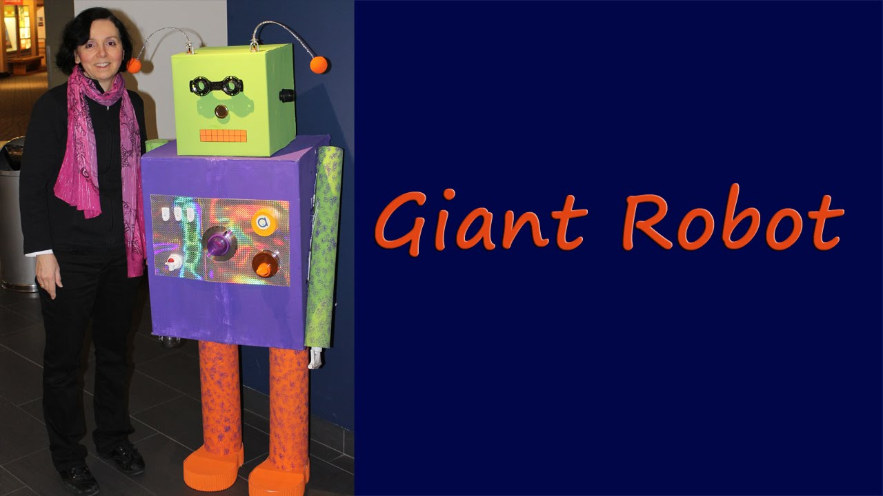 Made Robot Out Recycled Materials
