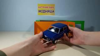 Машина металева Автопром ВАЗ-2106 інерції., відкр.двері, муз., світл., на батар., в короб. 2106
