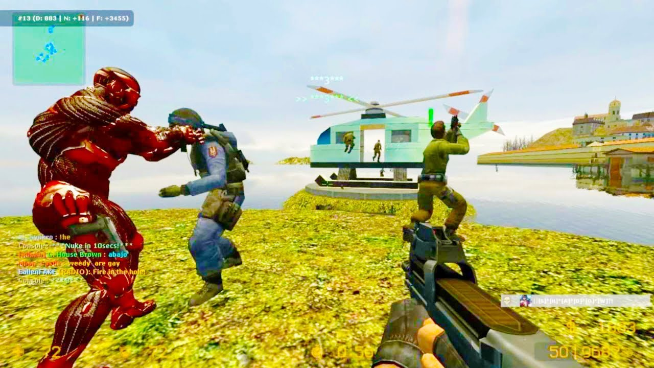Counter Strike Source - Zombie Escape mod online gameplay ...