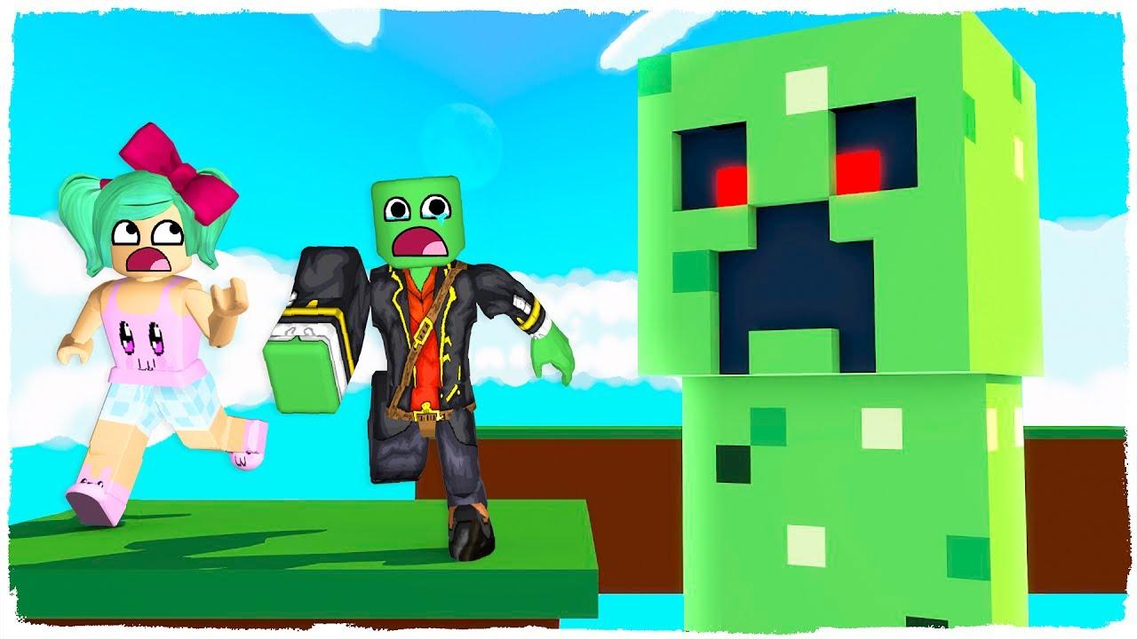 Escape Del Creeper De Minecraft En Roblox Youtube