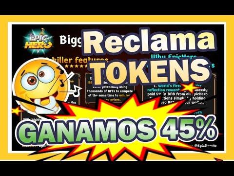 🚀 Reclamo tokens 🤑 Epic Hero pronto el juego 👀 Nuevo NFT RPG blockchain. será como AXIE ? comenta