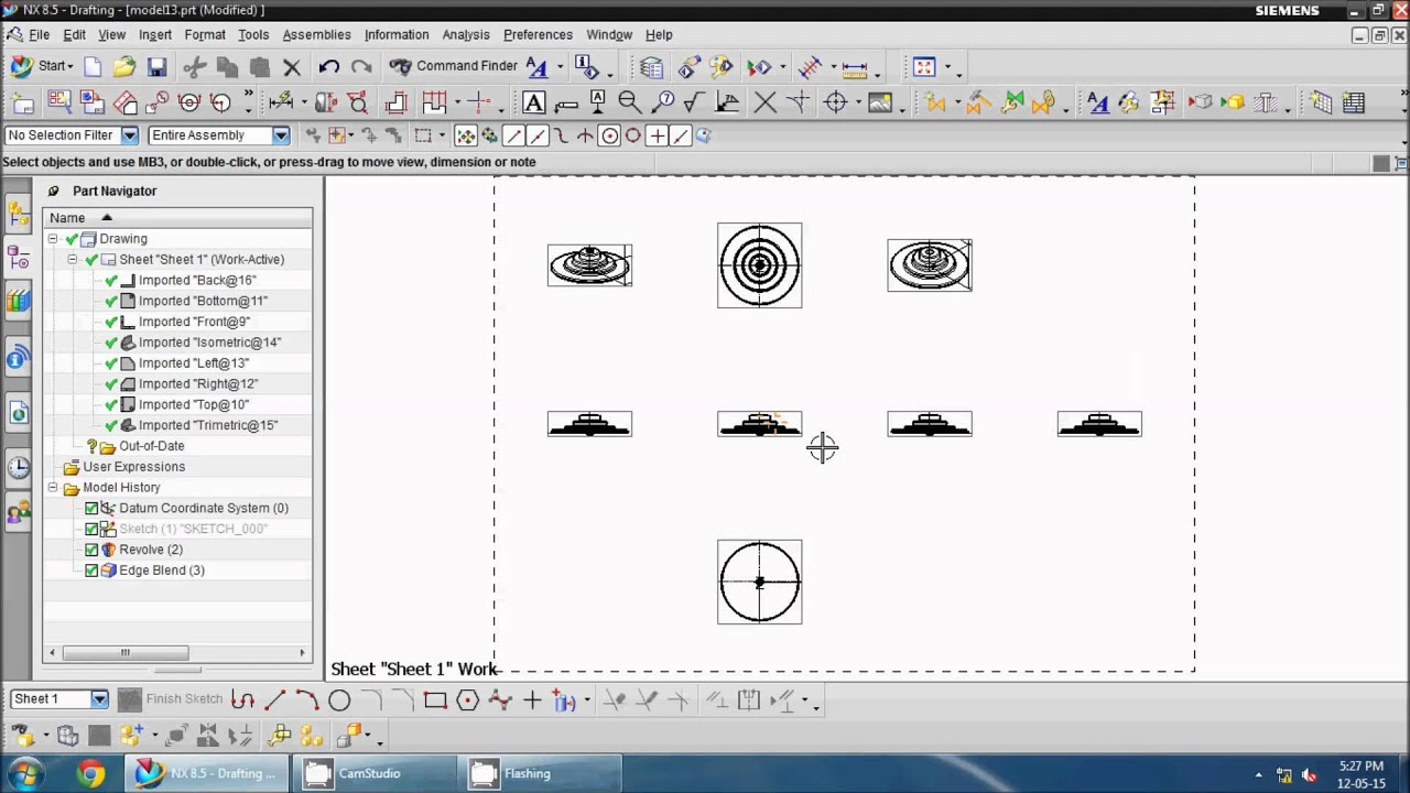 Drawing Lines Software : How to show ug nx drafting hidden lines in drawing youtube