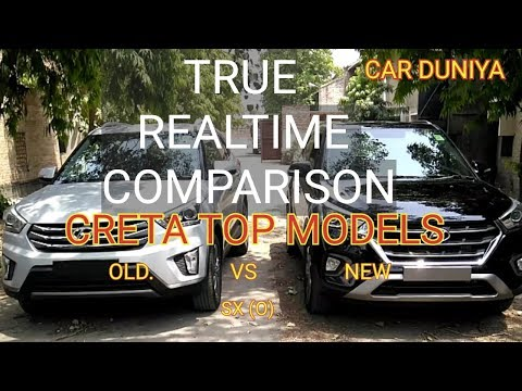 Compare Creta Top Models Old Vs New Side by Side-Revised