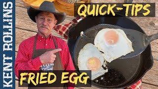 Quick Tip: The Perfect Fried Egg   How to Fry an Egg in a Cast Iron Skillet