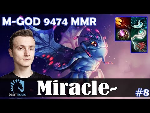 Miracle - Puck MID | M-GOD 9474 MMR | Dota 2 Pro MMR  Gameplay #8