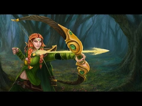 dota 2 windranger the northern wind set review youtube