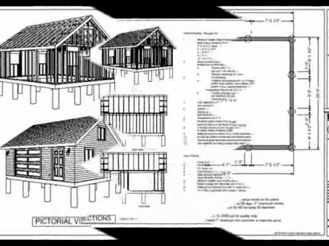 G448 24 x 20 x 8 garage plan youtube for 20 x 24 garage plans