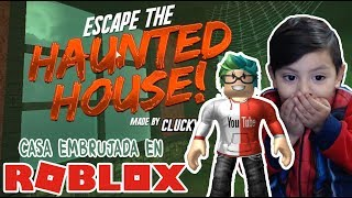The Haunted House in Roblox ESCAPE THE HAUNTED MANSION ? Roblox games for kids