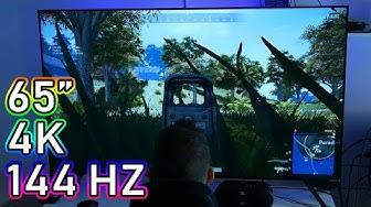 """Kokeiltavana 4200€ HP Omen X Emperium 65"""" 4K 144 Hz -pelinäyttö (+PUBG, Minecraft, Forza 4)"""
