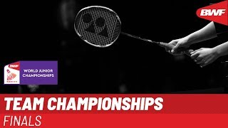 LIVE BWF World Junior Championships 2019 - TEAM Finals