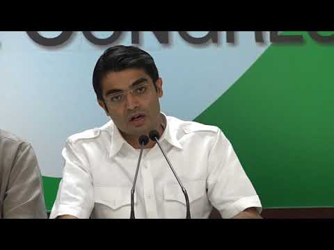AICC Press Briefing By Jaiveer Shergill in Congress HQ on Ca