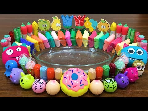Mixing Makeup, Clay and More into CLEAR Slime !! SlimeSmoothie | Satisfying Slime Videos #601