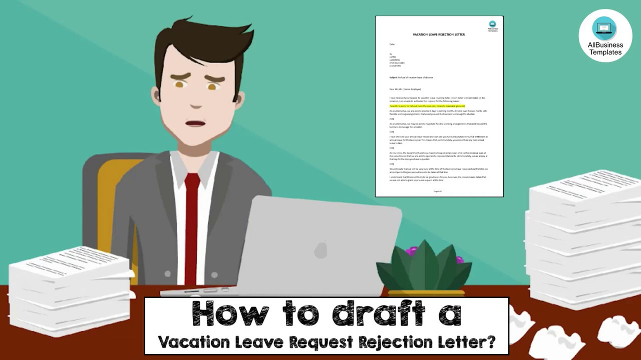 Vacation Leave Request Rejection Letter