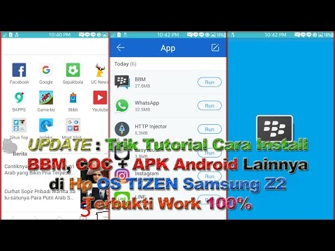 Tricks Tutorial How To Install BBM and Android APK at Hp OS Tizen Samsung Z2 Proven Work 100%