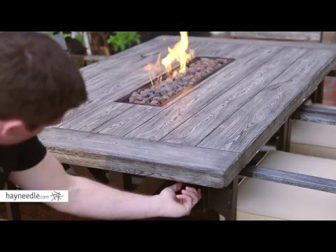 Belham Living Silba 7 Piece Envirostone Fire Pit Patio Dining Set Product Review Video Youtube