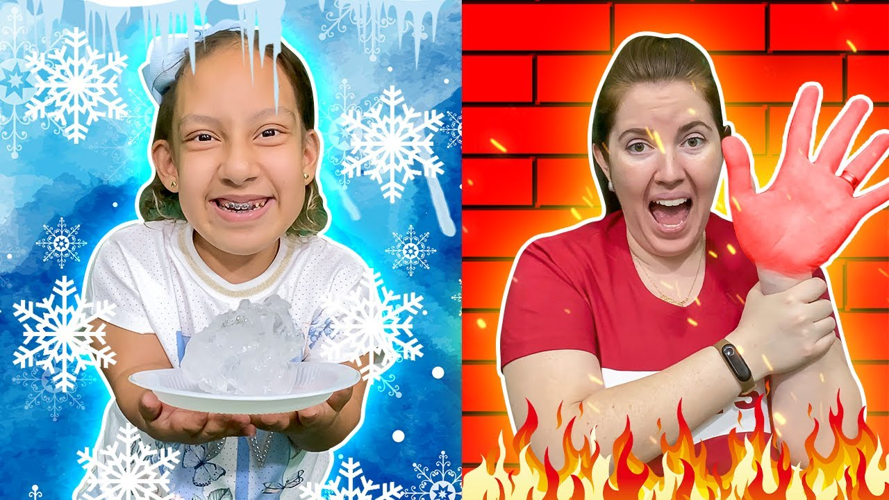 História Engraçada do Desafio QUENTE VS FRIO com MC Divertida | New Hot vs Cold Challenge