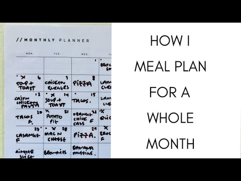 HOW I MEAL PLAN FOR THE WHOLE MONTH : SIMPLE MEAL PLANNING METHOD