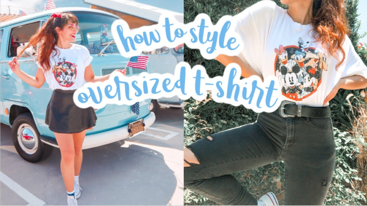 How to Style an Oversized T-Shirt // Disney Outfit Ideas
