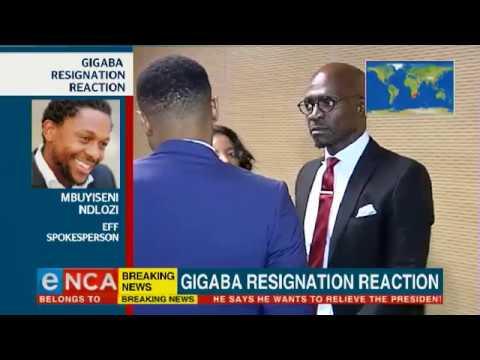 EFF responds to Gigaba resignation
