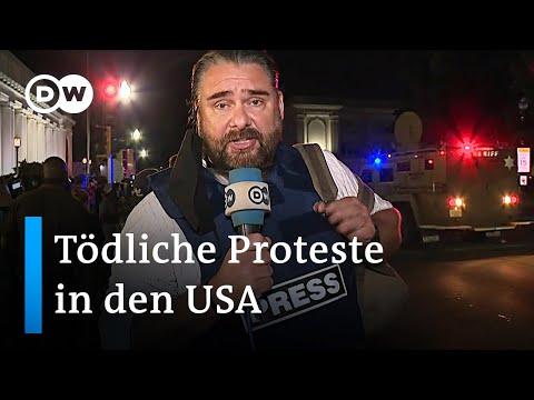 Tödliche Schüsse während Black Lives Matter Protest in der US Stadt Kenosha | DW Nachrichten