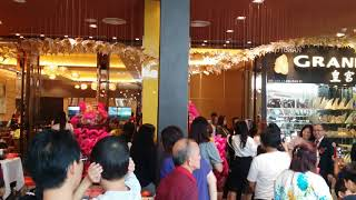 Lion dance at i city grand palace restaurant
