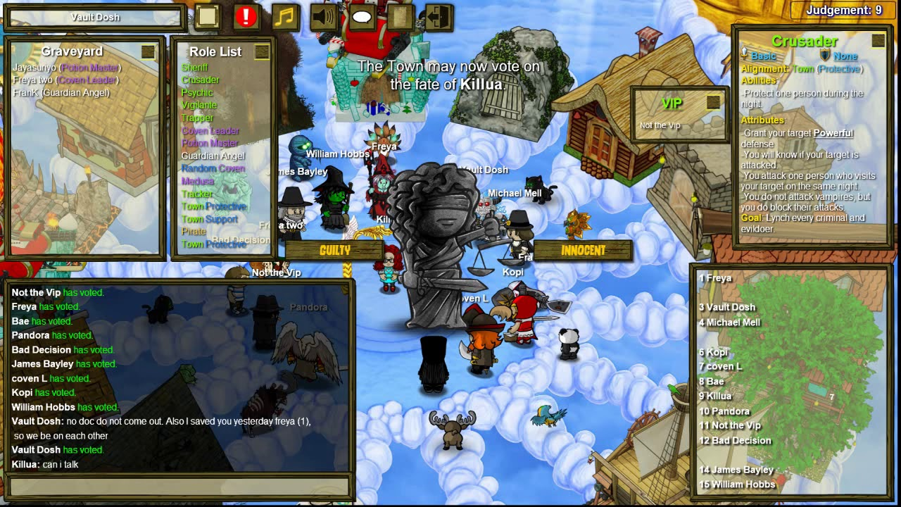 Town of Salem Chaos VIP Mode - VIP With Ironic Name? (Crusader game)
