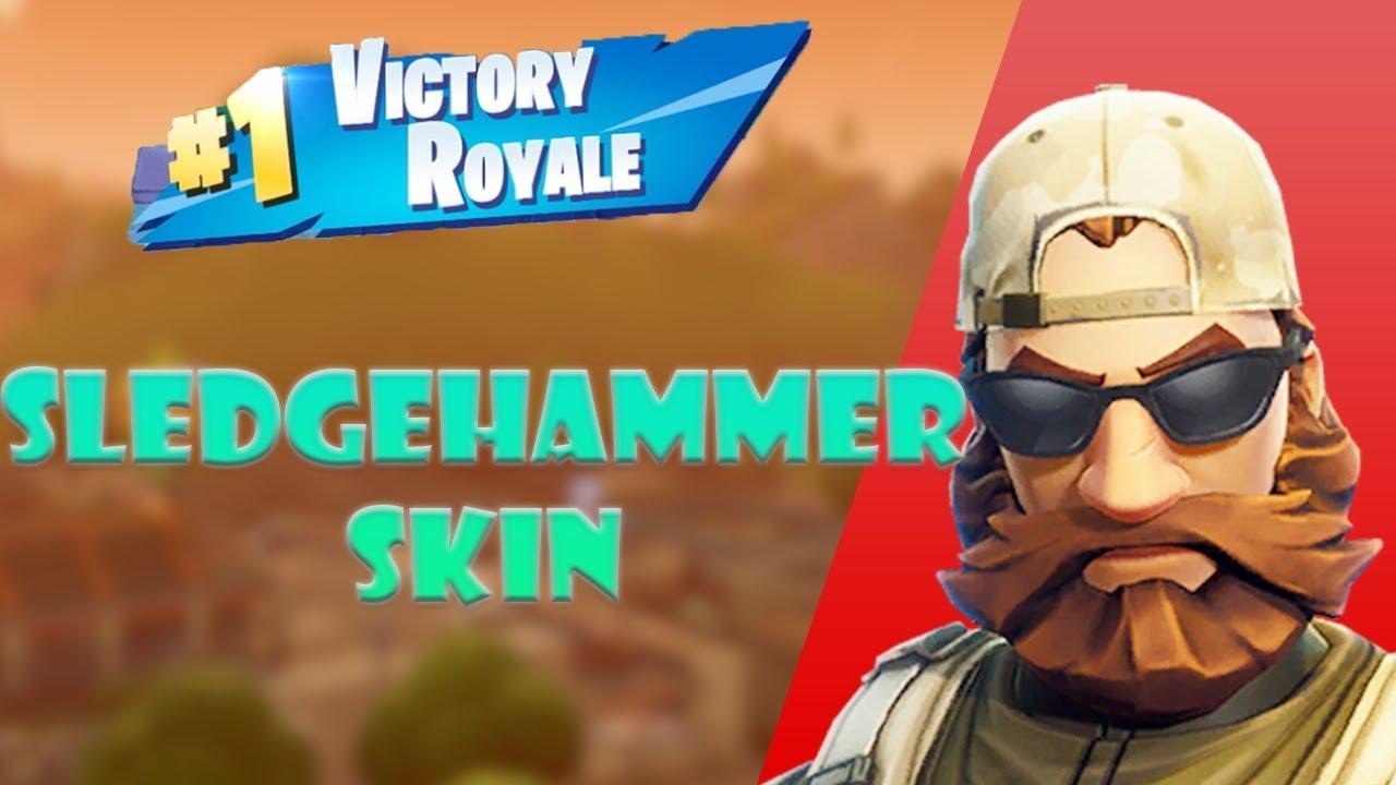 sledgehammer skin fortnite battle royale gameplay solo full match unbending - sledgehammer skin fortnite