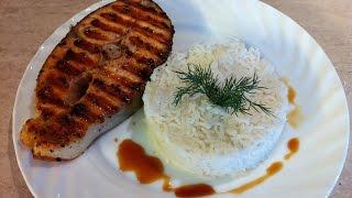 Стейк из сёмги с рисом. Вкусный ужин за 20мин. Мамулины рецепты.(, 2015-11-09T16:12:40.000Z)