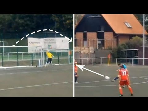 Golazo amateur tan brutal    ¡que parece 'fake' !