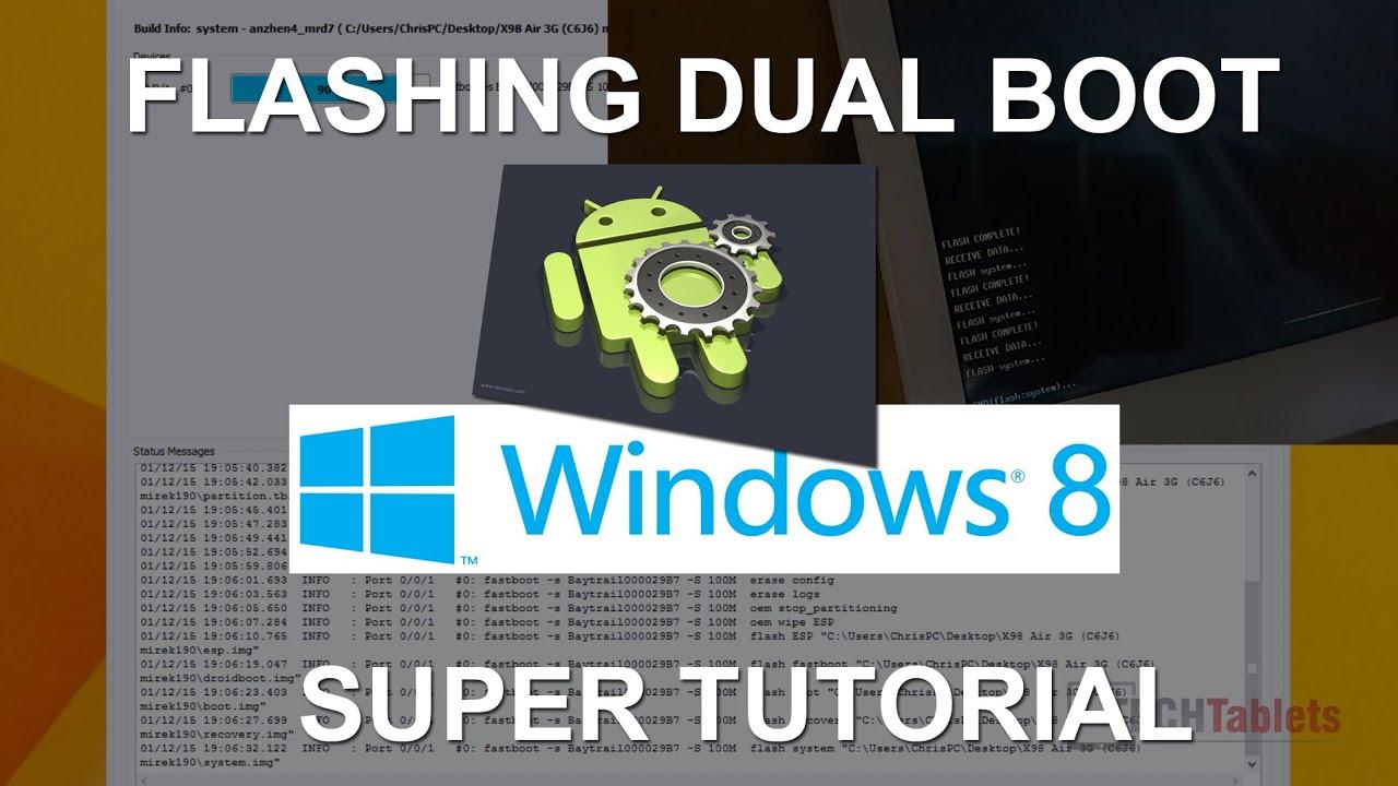 X98 Air 3G: Flash dual boot bios, Android, install Windows ...