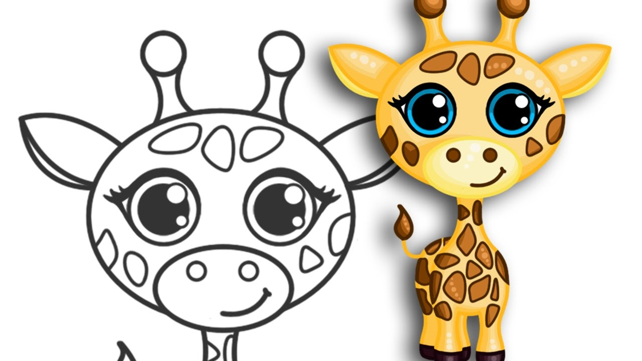 How to draw a Giraffe | Super cute & easy | Step by Step ...