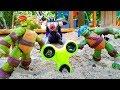 Черепашки-Ниндзя защищают Спиннер от Шредера! Игры для детей