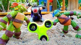Черепашки-Ниндзя защищают Спиннер от Шредера! Игры  для мальчиков