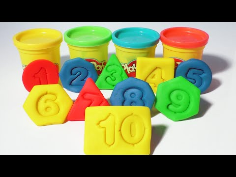 Play-Doh Numbers Shapes Colors Count 1-10 Kids Cool Math Games Fun Preschool Playdoh Dough Playdough