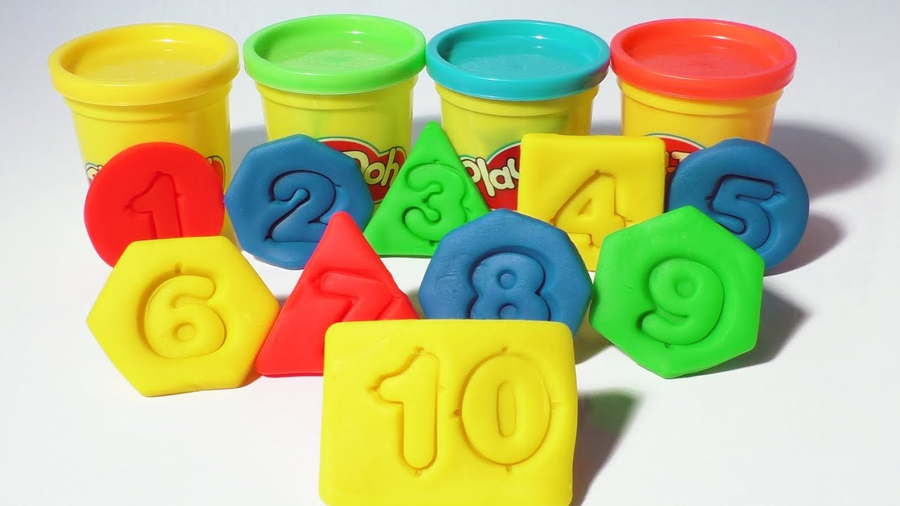 play doh numbers shapes colors count 1 10 kids cool math games fun