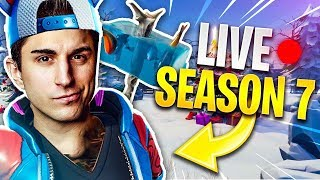 LIVE SEASON 7 OF FORTNITE! We're going to have to do everything we can with the NEW SKIN!!