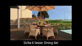 Cozy Bay Rattan Dining Sets - Outdoor All Weather Alfresco Wicker Sets