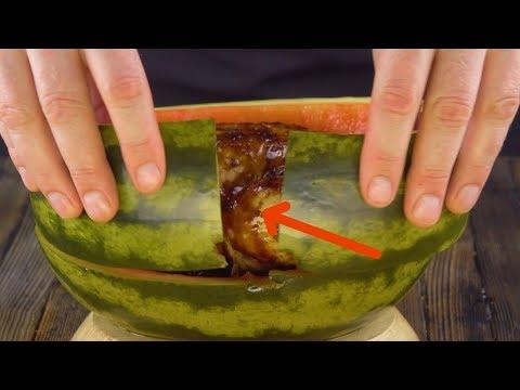Quando esta melancia for cortada, queixos cairão.