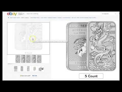 2018 1 oz Dragon Silver Bar, Hokusai Great Wave, Gold Rush Coin