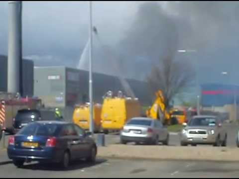 FIRE: Major Fire In Store-It In Ballymount, Dublin Video 3