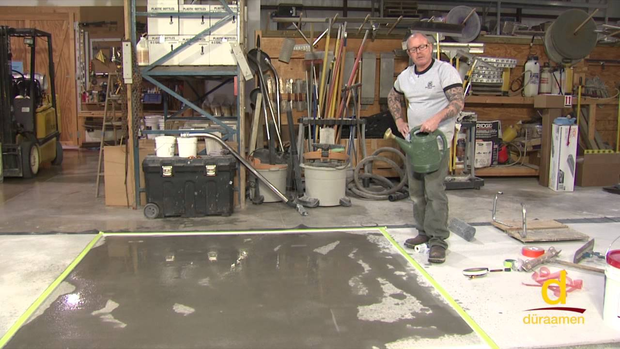 How to install Stampable Concrete Overlay - Part 1