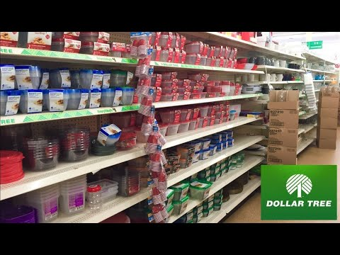 DOLLAR TREE FOOD STORAGE CONTAINERS DINNERWARE KITCHENWARE SHOP WITH ME SHOPPING STORE WALK THROUGH