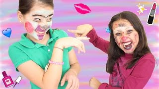 MIXED UP MAKEUP CHALLENGE ft. Gibby / NatalyPop