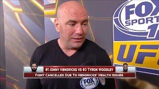 Dana White on Johny Hendricks: He just lost a huge opportunity