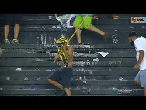 Riots after the match Vasco da Gama vs. Flamengo 09.07.2017
