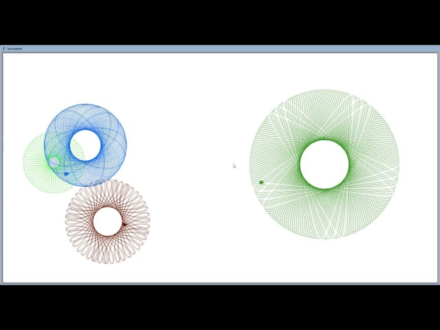 A Demonstration of Spirographs in Python