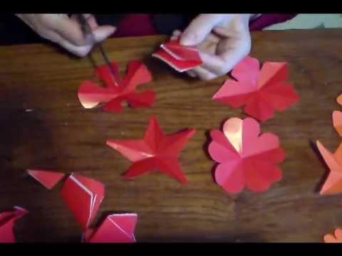 cortar flores de papel de 5 p233talos cut 5 petals paper
