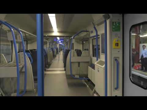 Onboard The NEW Thameslink 700113 From Farringdon To London Blackfriars