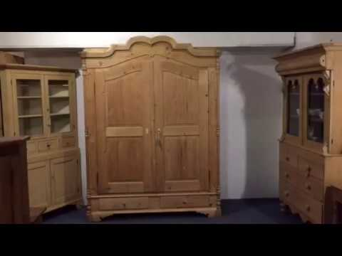 Very Large Beautiful Antique Pine Wardrobe  - Pinefinders Old Pine Furniture Warehouse