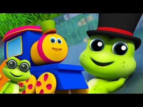 Bob der Zug Fünf kleine gesprenkelte Frösche Kinderreim für Kinder Five Little Speckled Frogs